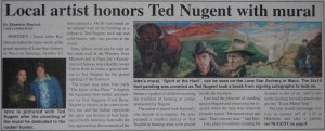 Ted Nugent Article in Whitney Lakelander