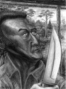 Jim Bowie Drawing by Ray Istre, copyright, 2011 ray@rayistre.com www.rayistre.com