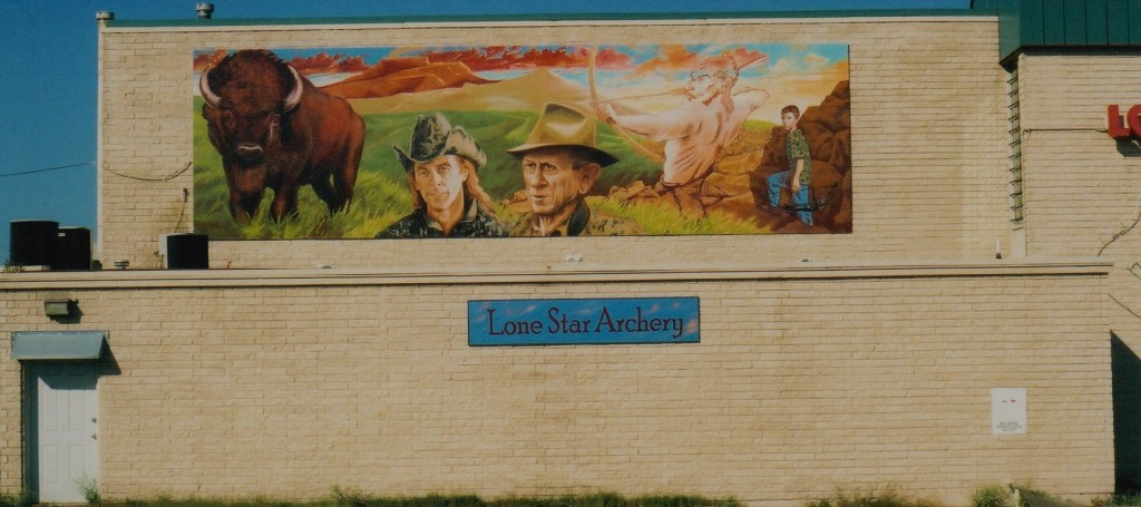 Mural Ted Nugent at Lone Star Archery