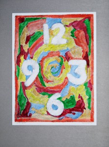 00,34 Hours, by Ray Istre, Hand painted mono print, contact by email ray@rayistre.com, thank you