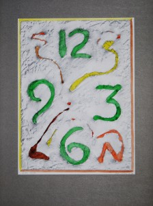 00,55 Hours, by Ray Istre, Hand painted mono print, copyright 1991, contact by email ray@rayistre.com, thank you
