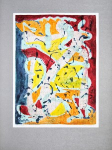 02,18 Hours, by Ray Istre, Hand painted mono print, copyright 1991, contact by email ray@rayistre.com, thank you