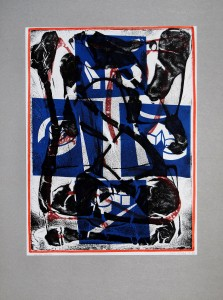 02,32 Hours by Ray Istre, Hand painted mono print, copyright 1991, contact by email ray@rayistre.com