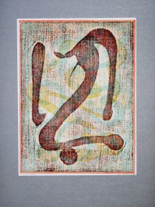 02,50 Hours by Ray Istre, Hand painted mono print, copyright 1991, contact by email ray@rayistre.com, thank you