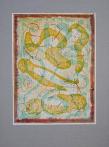 02,51 Hours, by Ray Istre, Hand painted mono print, copyright 1991, contact by email ray@rayistre.com, thank you