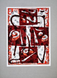 00,24 Hours, by Ray Istre, Hand painted mono print, copyright 1991, contact by email ray@rayistre.com, thank you