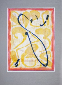 02,37 Hours, by Ray Istre, Hand painted mono print, copyright 1991, contact by email ray@rayistre.com