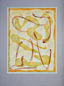 02,48 Hours, by Ray Istre, Hand painted mono print, copyright 1991, contact by email ray@rayistre.com, thank you