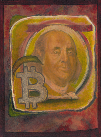 2LowRes-Franklin-Bitcoin by Ray Istre, copyright, 2014