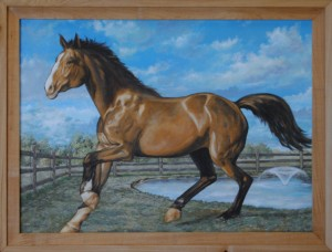 Monumental Mustang, Ray Istre 2014, For Mark and Renee Hollier, Acrylic on Canvas